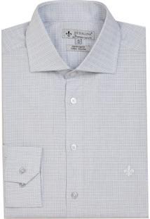 Camisa Dudalina Manga Longa Tricoline Fio Tinto Maquinetado Xadrez Masculina (Roxo Claro, 46)