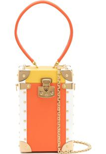Luis Negri Bolsa Clutch Color Block - Amarelo
