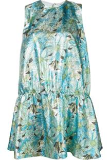 Stella Mccartney Vestido Campbell De Lurex - Verde