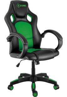 Cadeira Gamer X-Zone Basic Cgr-02 Preto E Verde
