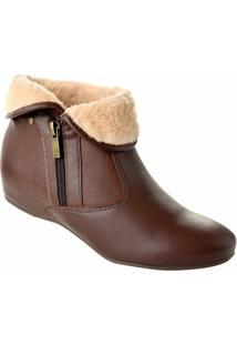Ankle Boot Campesí - Feminino-Marrom