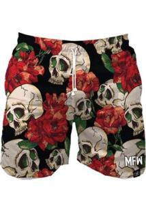 Short Tactel Maromba Fight Wear Fashion Skull Com Bolsos Masculino - Masculino