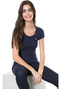 Camiseta Polo Wear Básica Azul-Marinho
