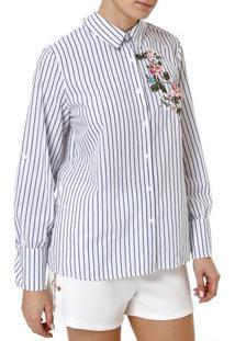 Camisa Manga Longa Feminina Branco