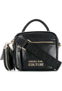 Versace Jeans Couture Bolsa Tote Com Placa De Logo - Preto