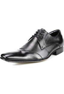 Sapato Social Bigioni Recortes Preto