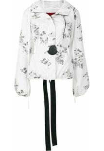 Moncler Gamme Rouge Jaqueta Floral De Seda - Branco