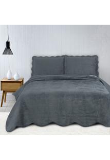 Colcha Queen Camesa Neo Clássico Velvet Com 2 Porta Travesseiros