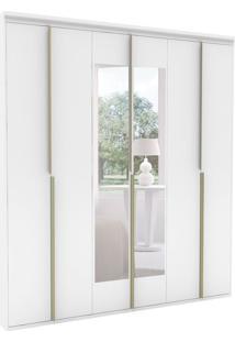 Guarda-Roupa Casal Com Espelho Sonhare L 6 Pt Branco