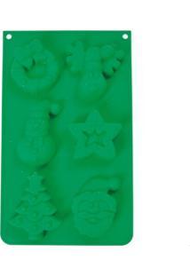 Forma De Natal 6 Formatos Decoraã§Ã£O De Silicone Cor Verde - Verde - Dafiti