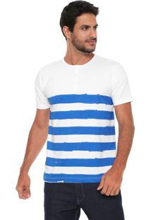 Camiseta Catamaran Portuguesa Lista Branca/Azul
