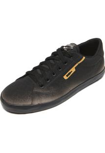 Tênis Coca Cola Shoes Winner Ombre Preto/Dourado