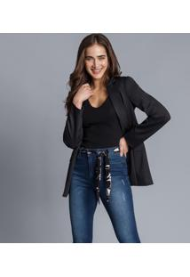Calça Skinny Aruba Com Cinto Jeans - Lez A Lez