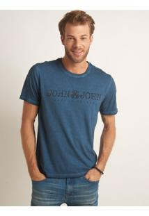 Camiseta John John Rg Jj Basic Blue Malha Azul Masculina Tshirt Rg Jj Basic Blue-Azul Medio-P