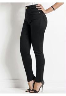 Calça Sarja Sawary Preta Modelo Hot Pants