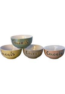 Bowl Cereals Jogo C/4 Tigelas Kasa Ideia