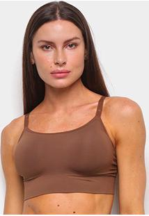 Top Liz Sutop Skinbreez 51932 Feminino - Feminino-Marrom Claro