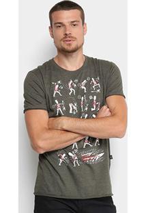 Camiseta Triton Estampada Masculina - Masculino-Verde Escuro