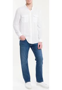 Camisa Slim Cannes Viscose Flamê - Branco - 1