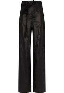 Lemaire Calça Pantalona Com Cintura Alta - Preto