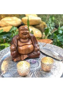Escultura Buda Feliz 20Cm - Bali