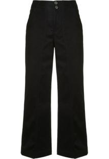 Portspure Calça Pantalona Cintura Média - Azul