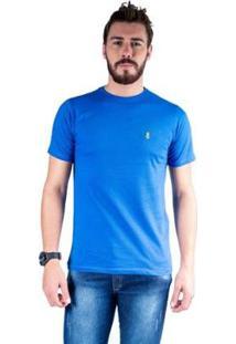 Camiseta Mister Fish Gola Careca Basic Top Hat Masculina - Masculino-Azul Royal