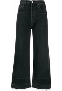 Citizens Of Humanity Calça Jeans Flare Cropped - Preto