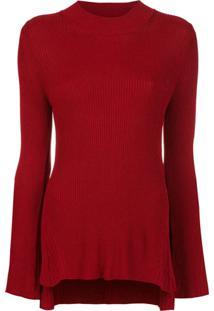Osklen Blusa Com Fendas Laterais - Vermelho