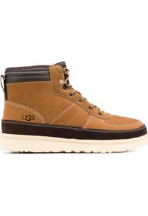 Ugg Ankle Boot Com Cadarço - Marrom