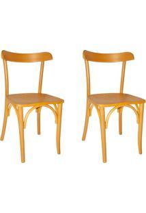 Conjunto Com 2 Cadeiras De Cozinha Laura Amarelo