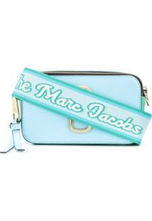 Marc Jacobs Bolsa Com Logo Na Alça - Azul