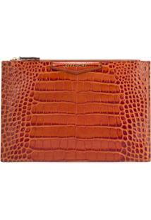 Givenchy Carteira Com Textura Croco - Marrom