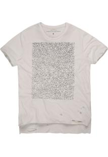 Camiseta Masculina Geométrica Mullet Off White