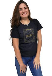 Camiseta Feminina Cellos Retro Frame Premium Preto