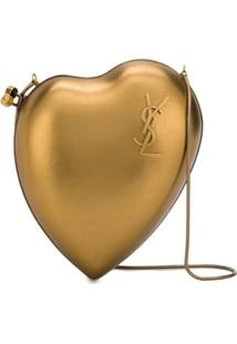 Saint Laurent Bolsa Transversal Love Box - Dourado