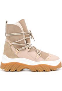 Inuikii Ankle Boot Com Forro De Pelos - Neutro