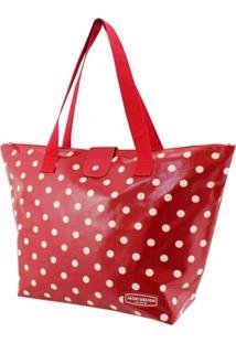 Bolsa Sacola Jacki Design Estampada Vermelho - Kanui
