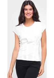 Camiseta Colcci Sleeveless Feminina - Feminino-Areia
