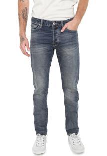Calça Jeans Jack & Jones Slim Estonada Azul