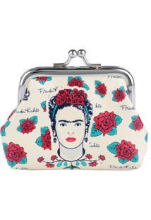 Porta Moedas Frida Kahlo Face And Skull