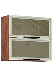 Armário Aéreo 2 Portas Basculantes Com Vidro Reflecta Viv Concept 909