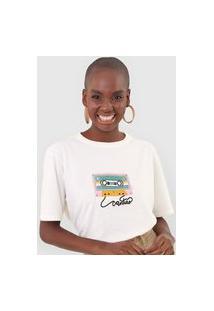 Camiseta Cantão Box Lado B Off-White