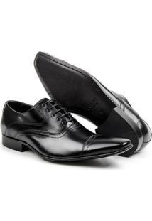 Sapato Social Couro Clássico Estilo Italiano Bigioni Masculino - Masculino-Preto