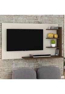 Painel Para Tv Julia 253122 Off White/Savana - Madetec
