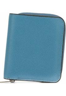 Valextra Carteira Com Zíper - Azul
