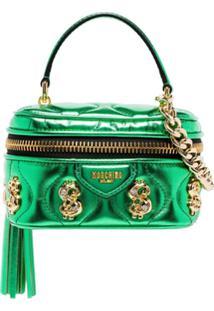 Moschino $ Embellished Box Bag - Verde