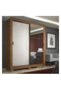 Guarda-Roupa Solteiro Madesa Denver 2 Portas De Correr Com Espelho Com Pés