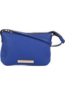Bolsa Loucos & Santos Mini Bag Básica Plaquinha Feminina - Feminino-Azul