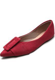Sapatilha Dafiti Shoes Fivela Vinho